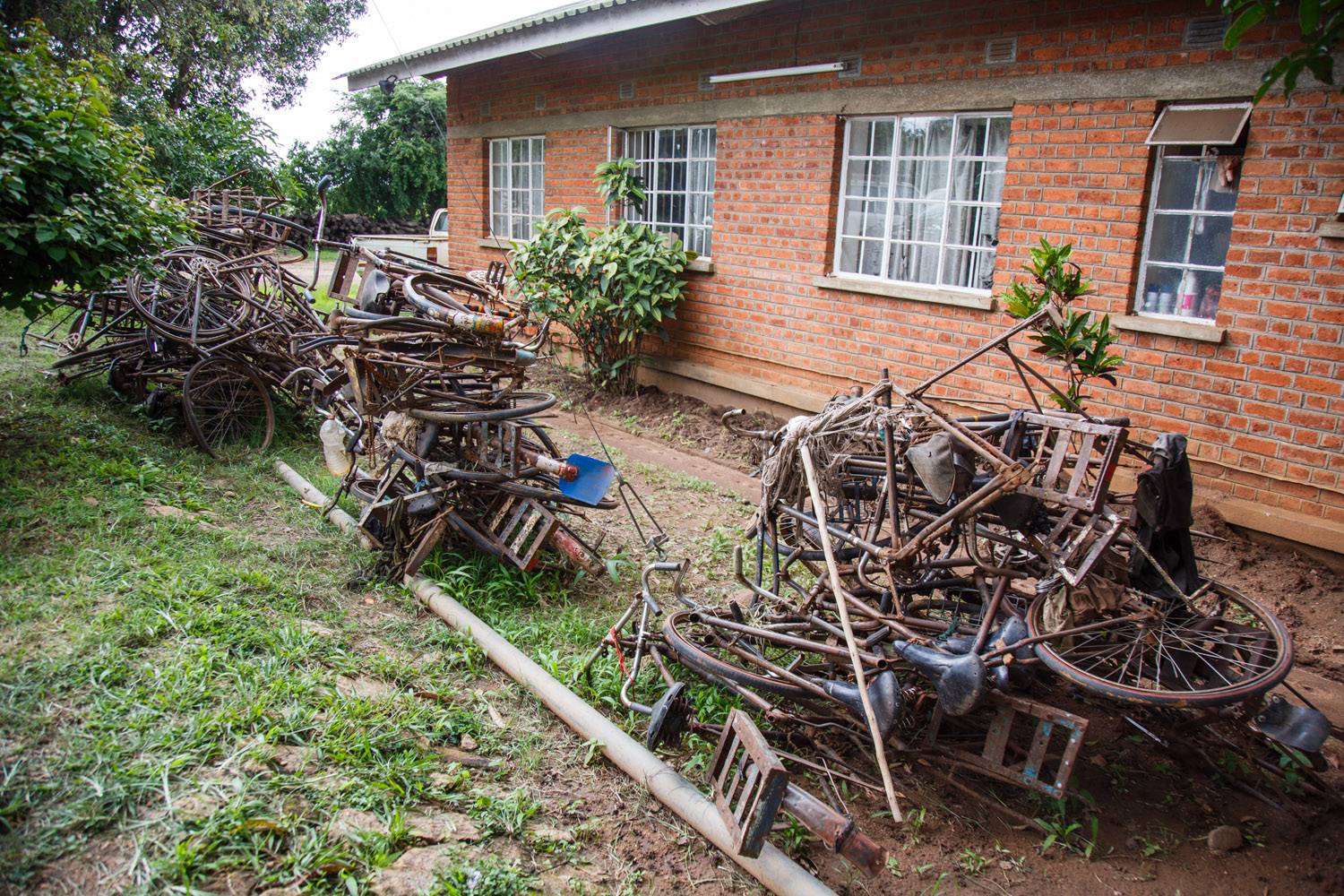 Confiscated bikes at the the Department of Forestry. The fight against illegal charcoal is difficult and tedious.
