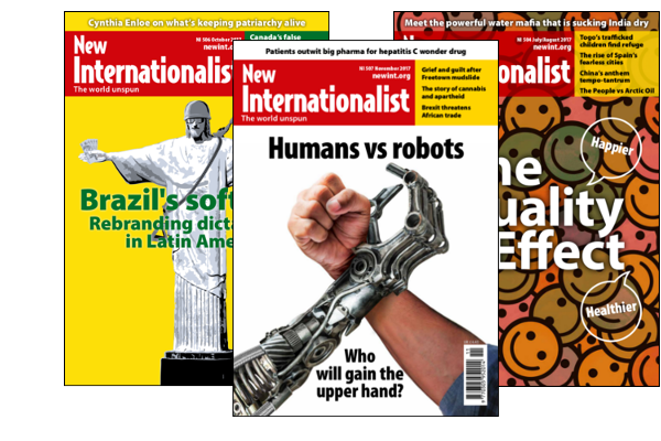 New Internationalist magazine covers